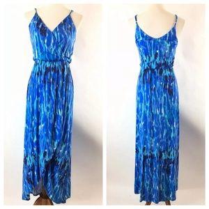 Felicity & Coco Jersey Faux Wrap Maxi Dress Sz XS